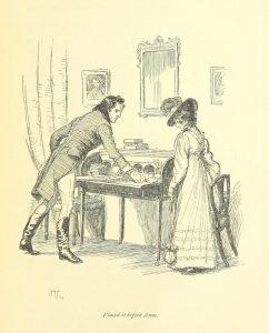 Hugh Thomson's illustration from Austen's Persuasion
