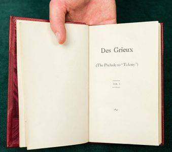 """Des Grieux : The Prelude to """"Teleny"""""""