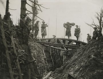 A trench bridge (World War I 1914-1918 British Press photograph collection, BC_1763_0955)