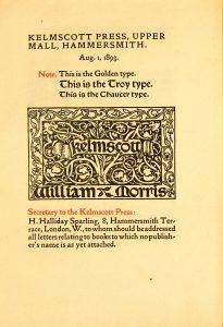 Kelmscott Prospectus Image